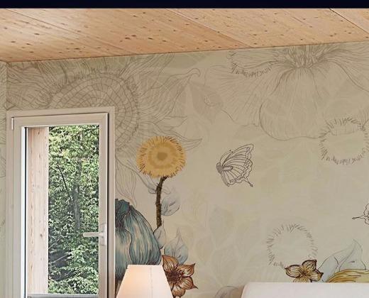 丝绸底印加绣墙布欧式风格图片